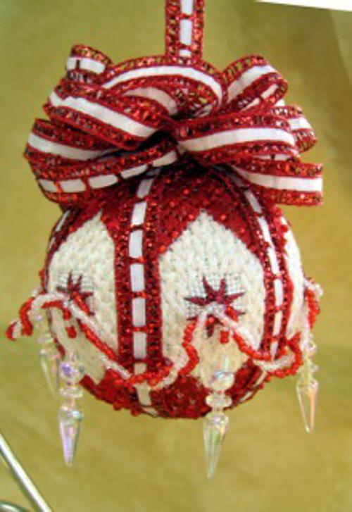 Diamonds and Rubies Ornaments by Sandra Arthur