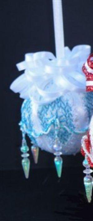 Diamonds of Blue Ornaments by Sandra Arthur