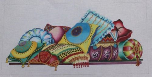 Pillow Collage from Needlepoint of Back Bay
